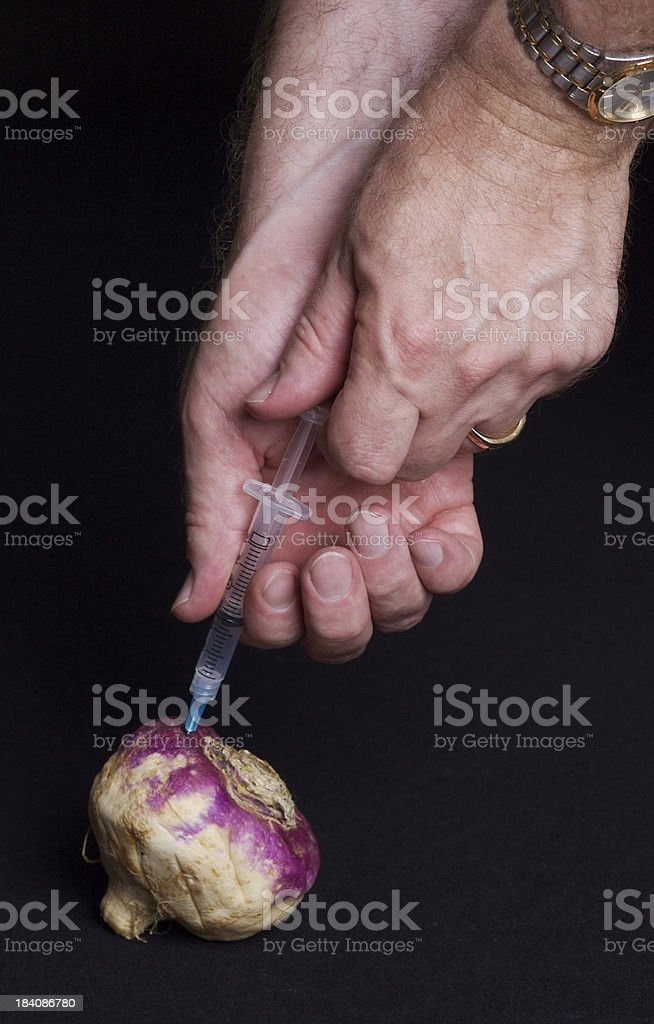 You Can't Get Blood Out of a Turnip stock photo