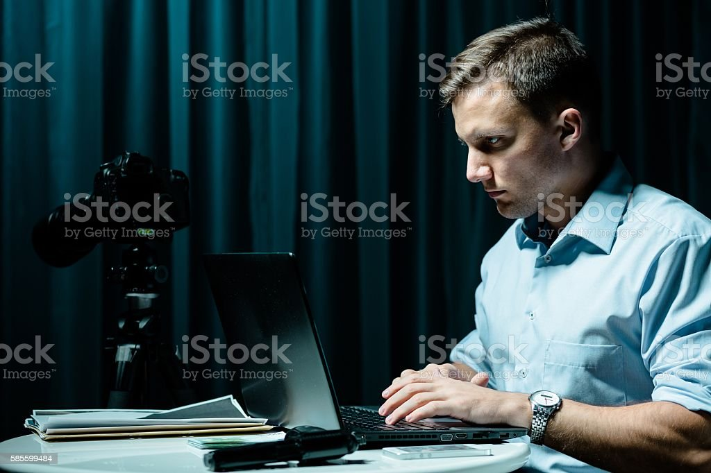 You can't hide, i'll find you! stock photo