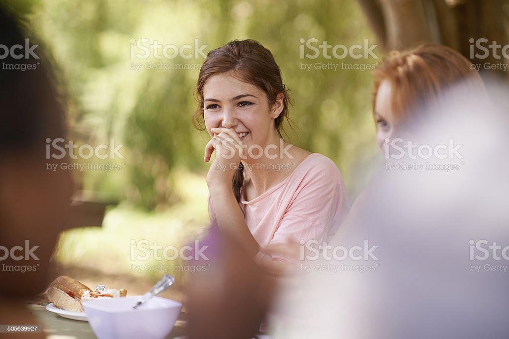 You can't hold back the laughter for long stock photo