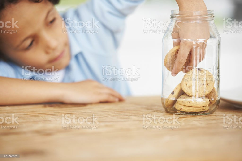 You can't keep these cookies away from me royalty-free stock photo