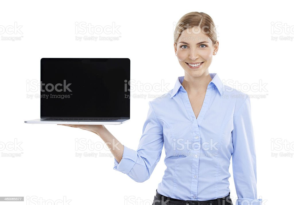You can't live without a laptop in the business world royalty-free stock photo