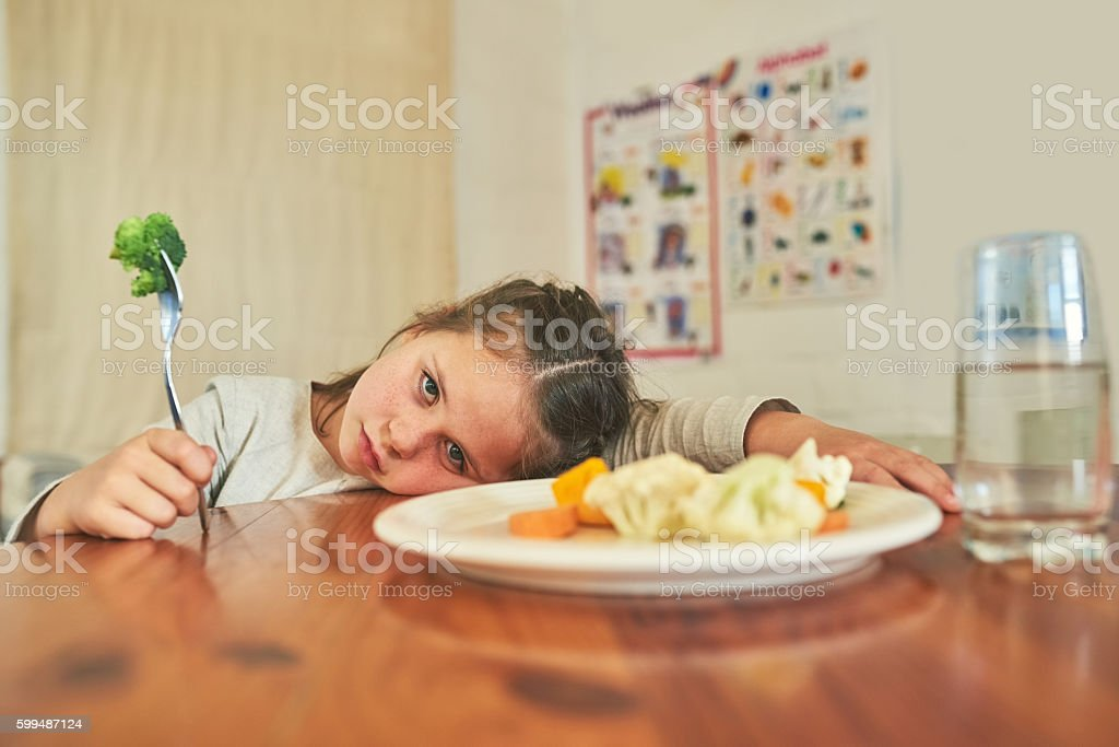 You can't make me eat this stock photo