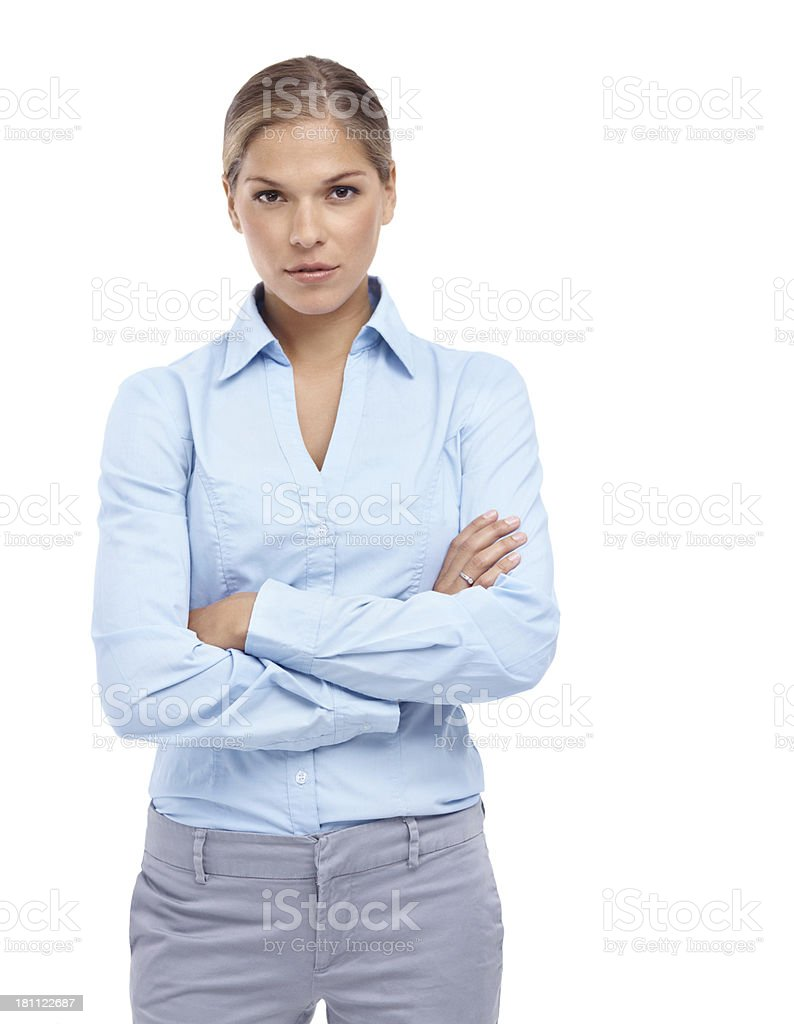 You don't want to mess with her... royalty-free stock photo