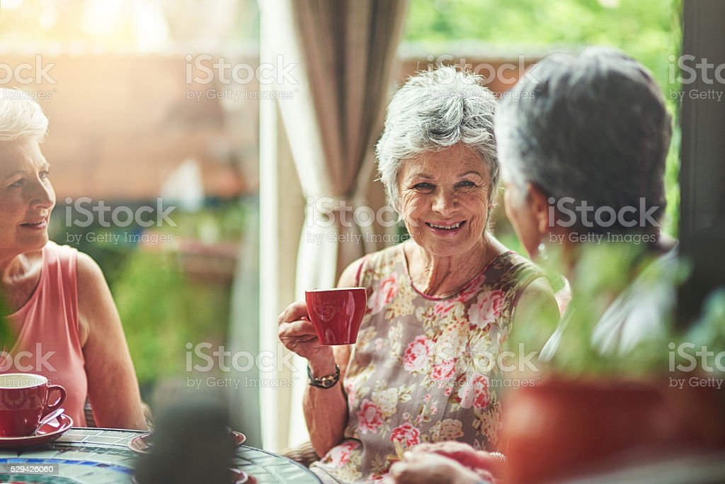 You girls are always such good company stock photo