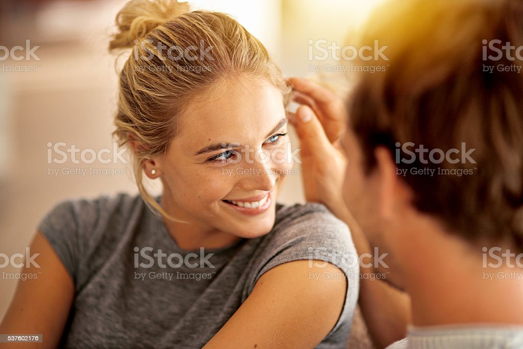 You give me something that I never had before stock photo