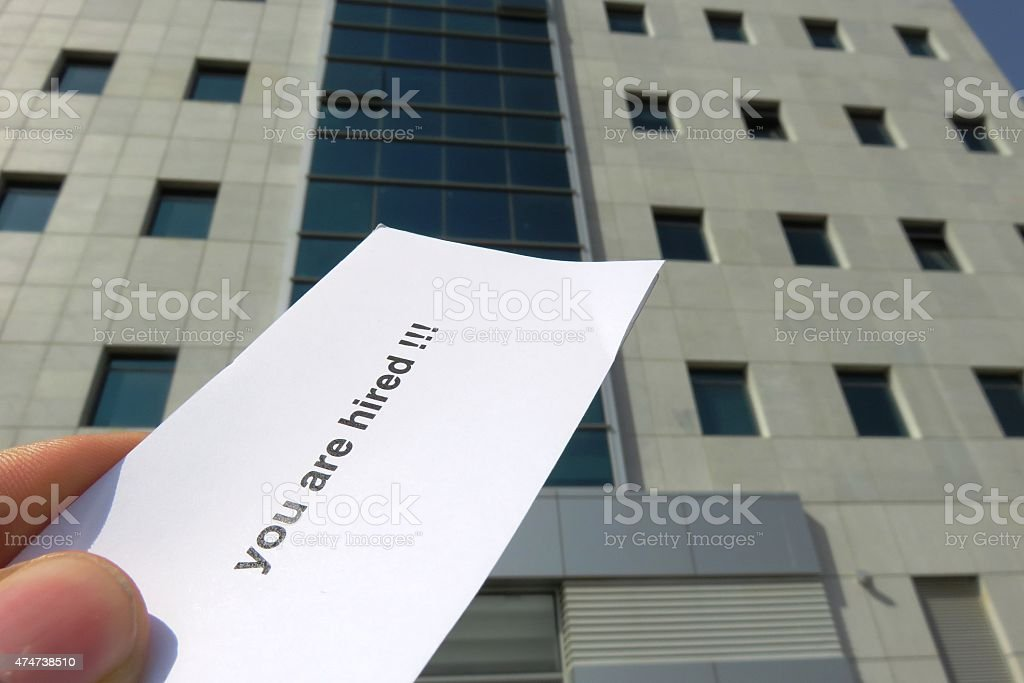 you got the job stock photo