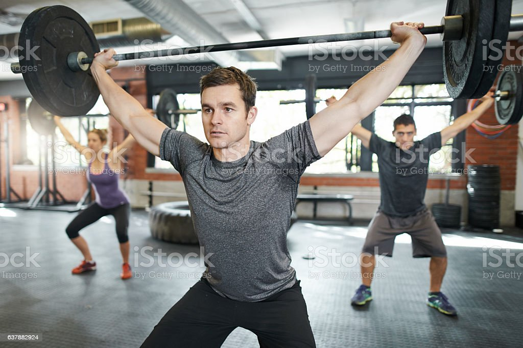 You gotta sweat for it stock photo