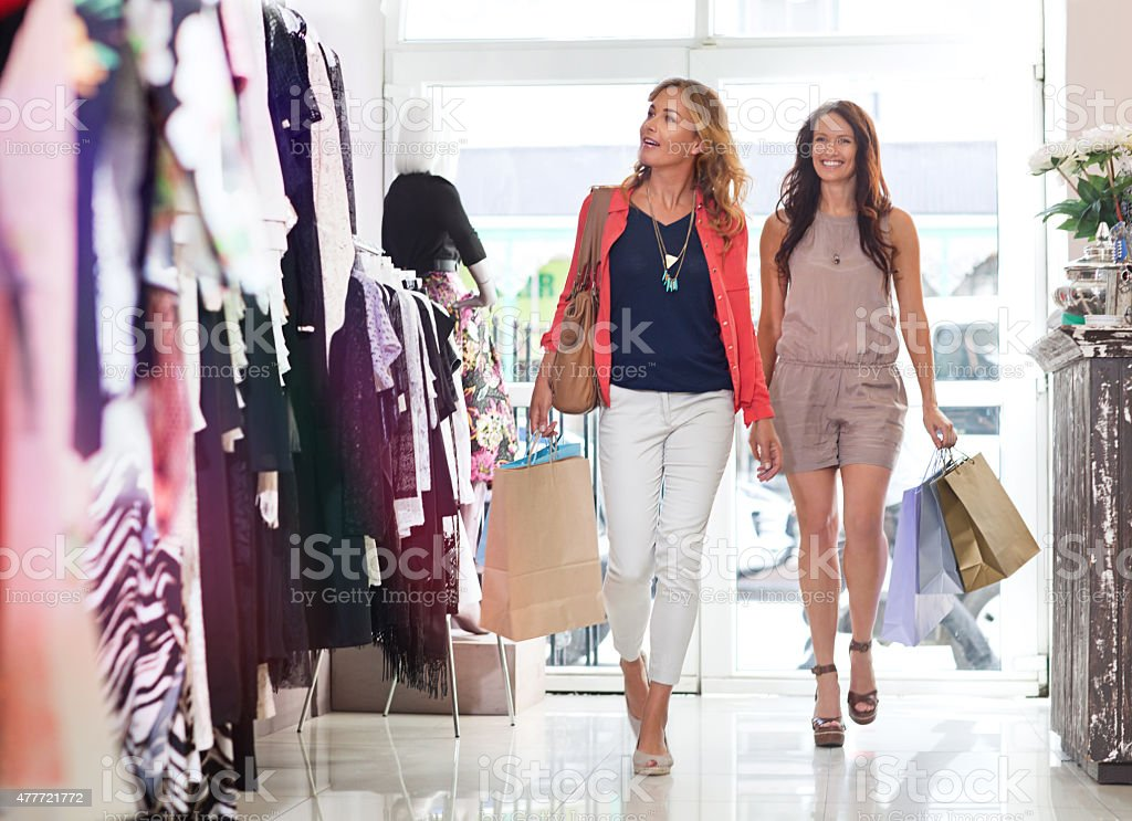 You had me at, 'Let's go shopping' stock photo
