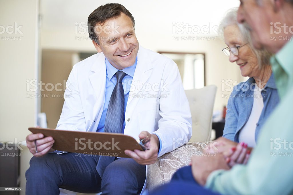 You have nothing to worry about - Healthcare royalty-free stock photo