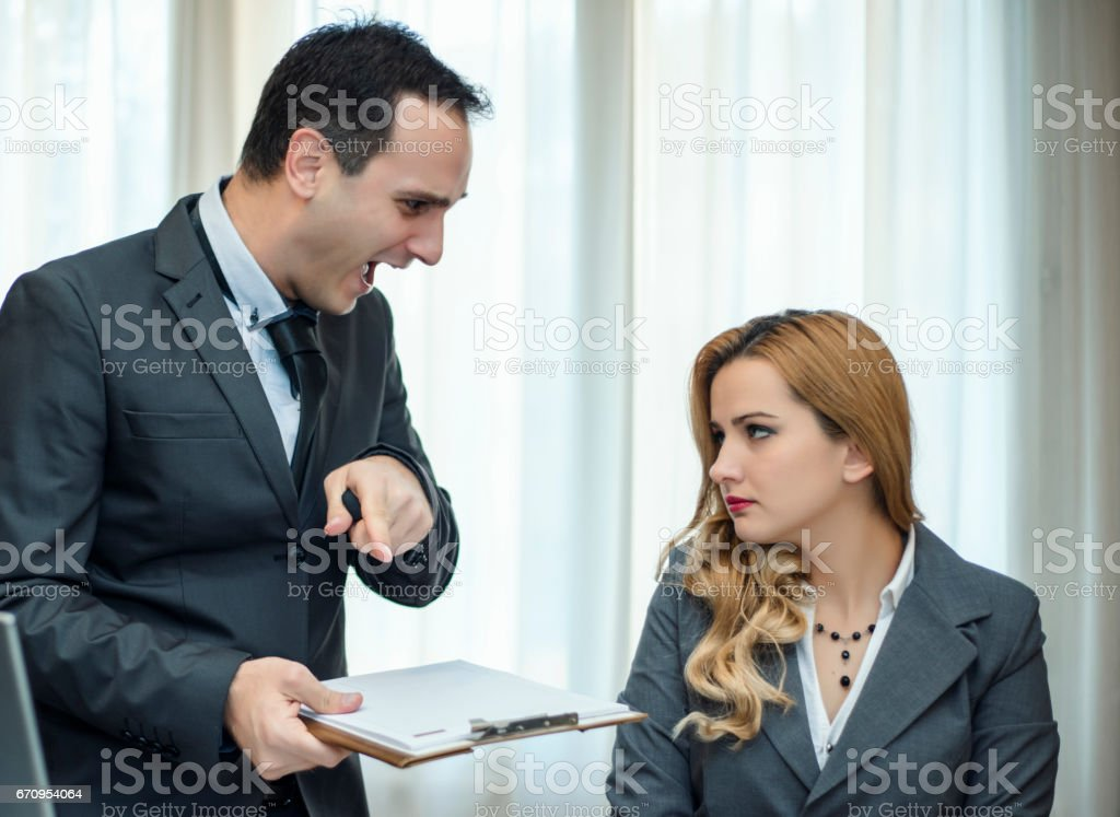 You have problem at work stock photo