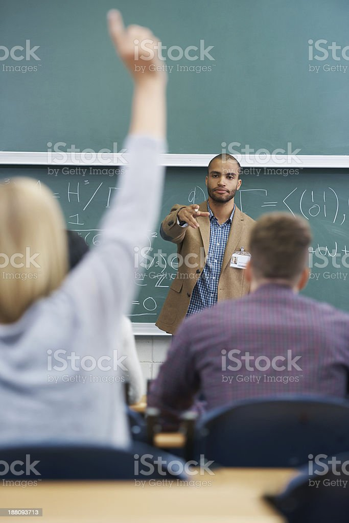 You, in the back? stock photo