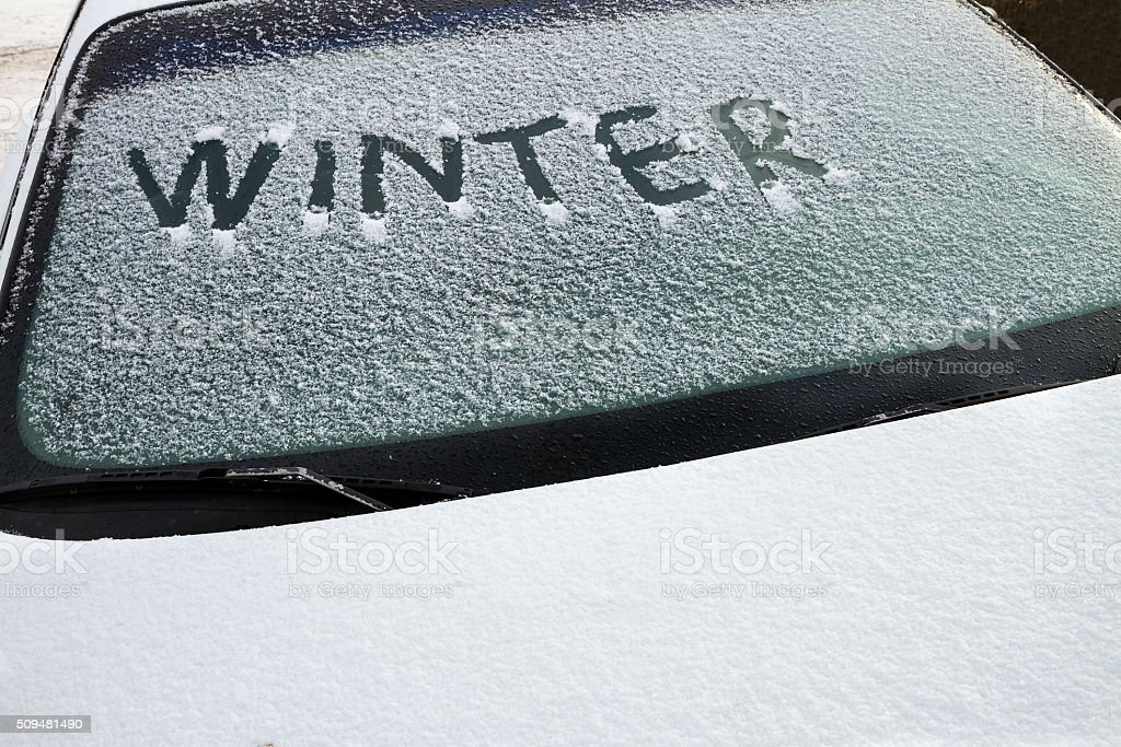 You know it's winter stock photo