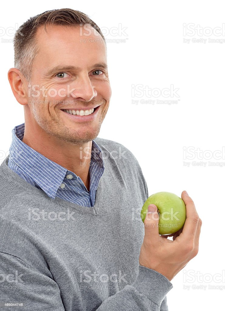 You know what they say about apples stock photo