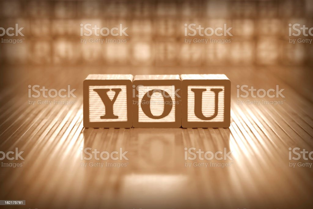 you letters stock photo
