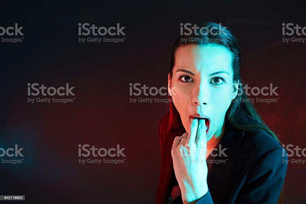 You make me sick! stock photo