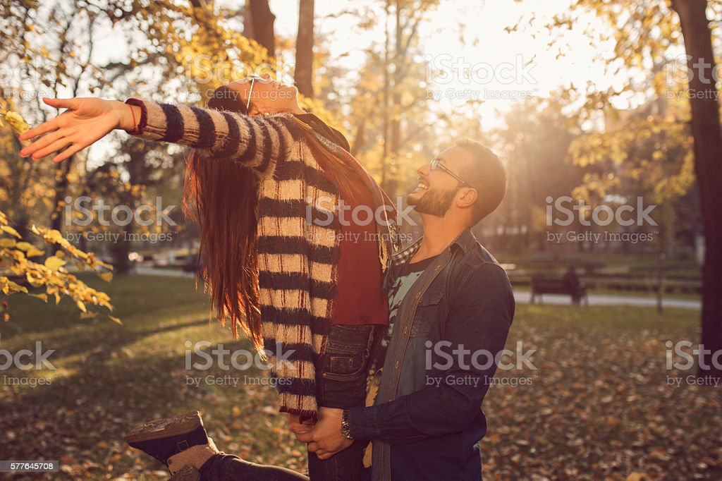 You make me the happiest stock photo