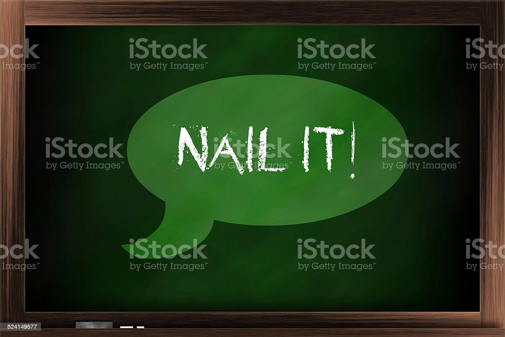 You nail it stock photo