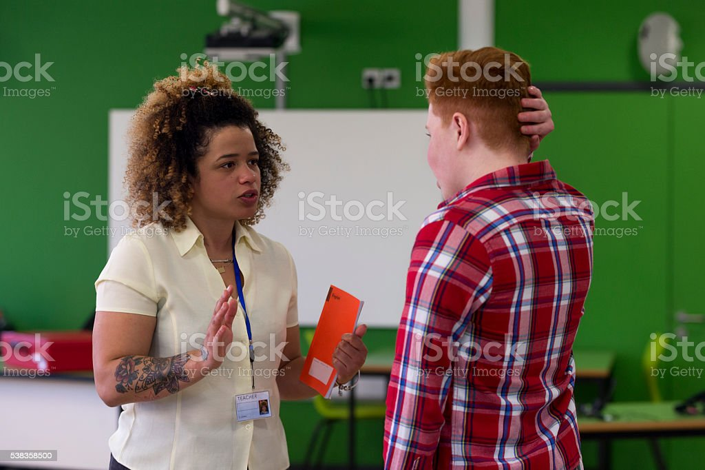 You need to start doing your school work! stock photo