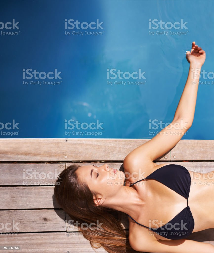 You only live once so tan well stock photo