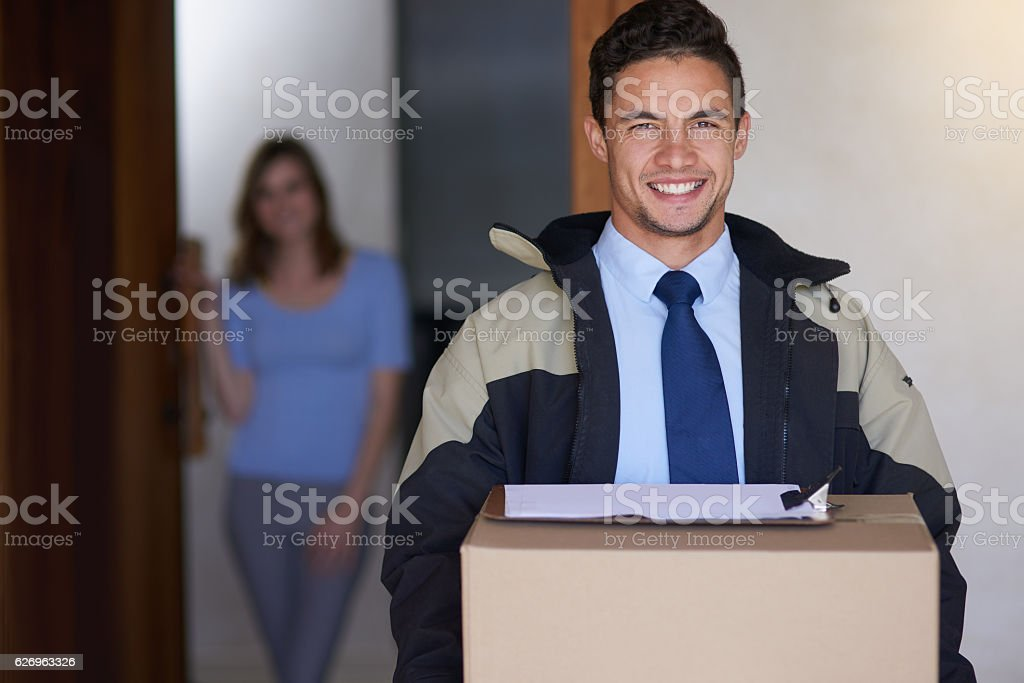 You order, we deliver stock photo