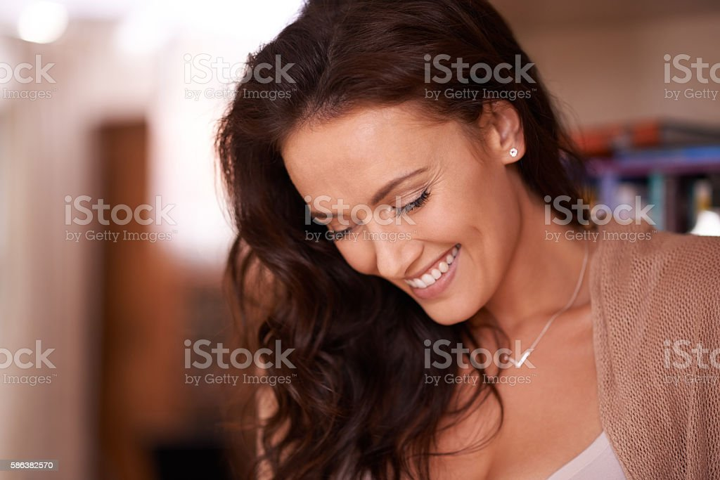 You should always try to keep yourself happy stock photo