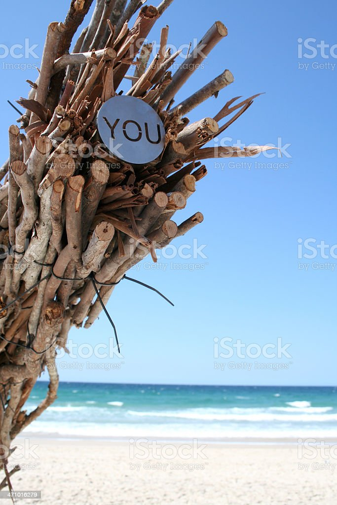 You Should Be Here stock photo