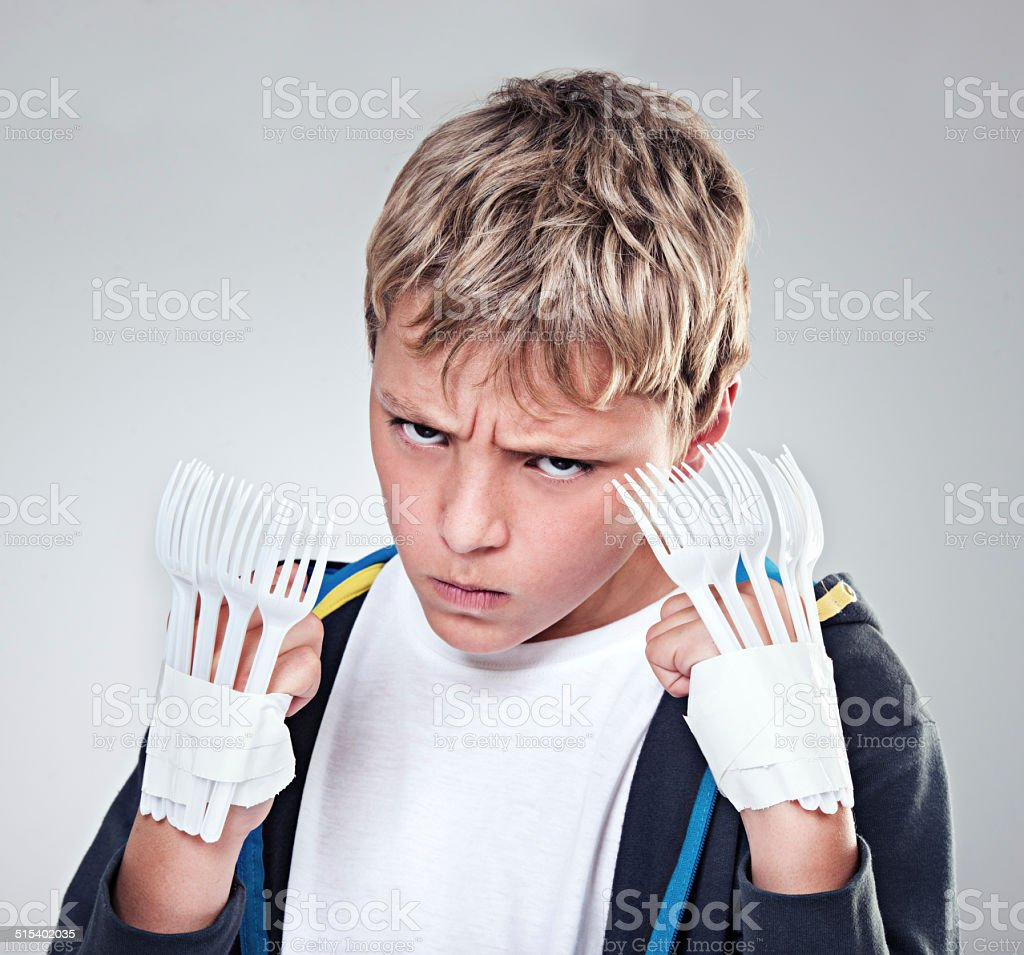 You think you can take me?! stock photo