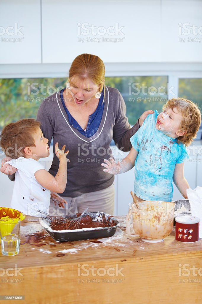 You two are in serious trouble! royalty-free stock photo