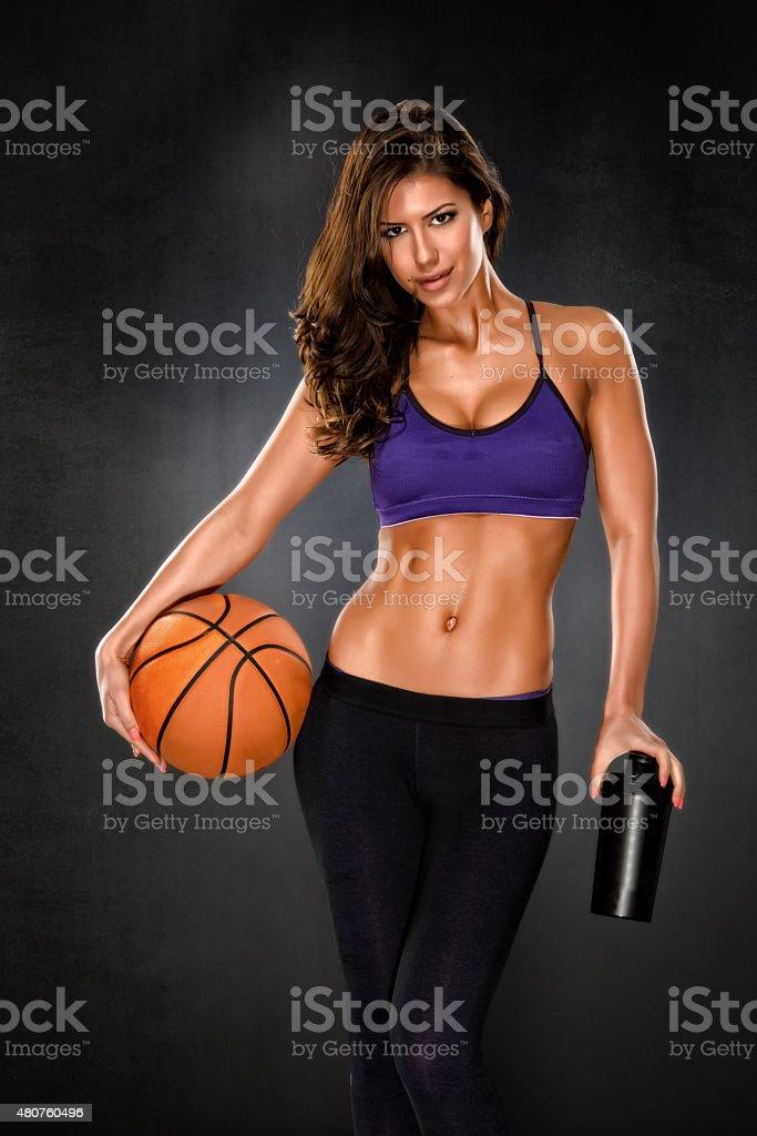 You wanna play some basketball? stock photo