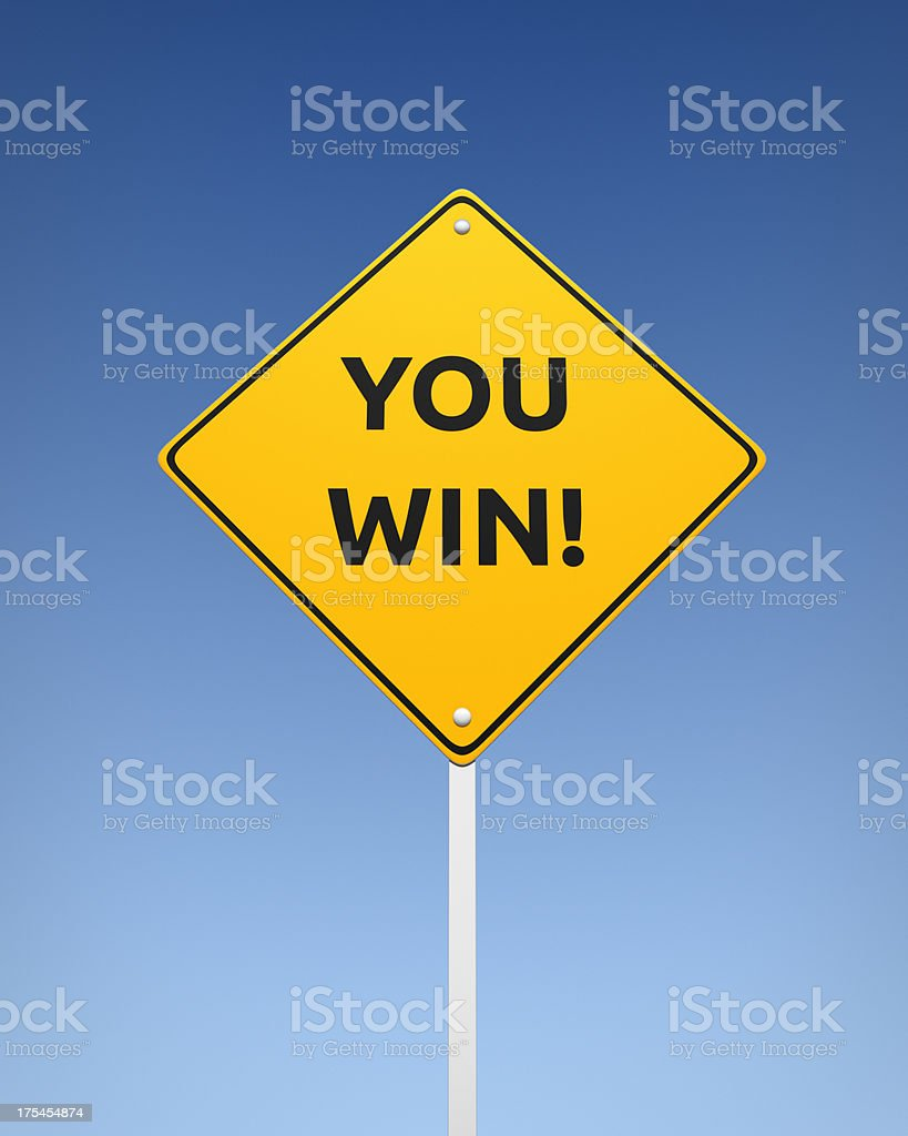 You Win XL+ royalty-free stock photo