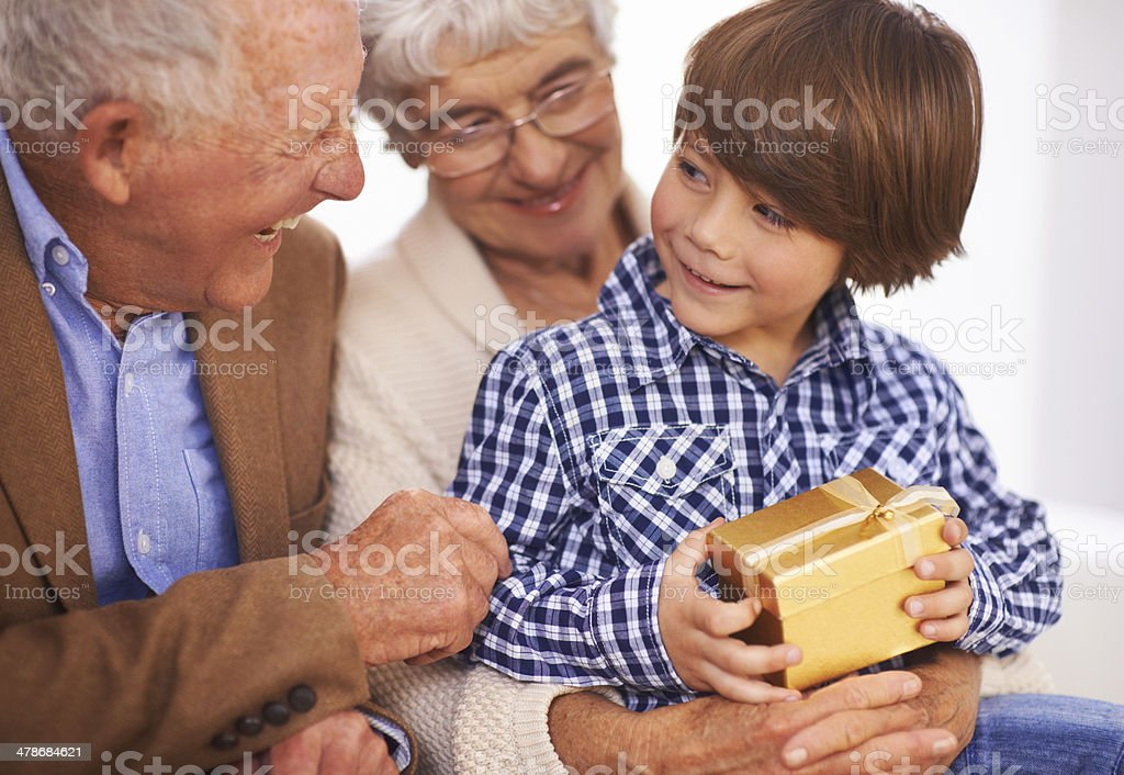You'd better open that and see what it is! stock photo