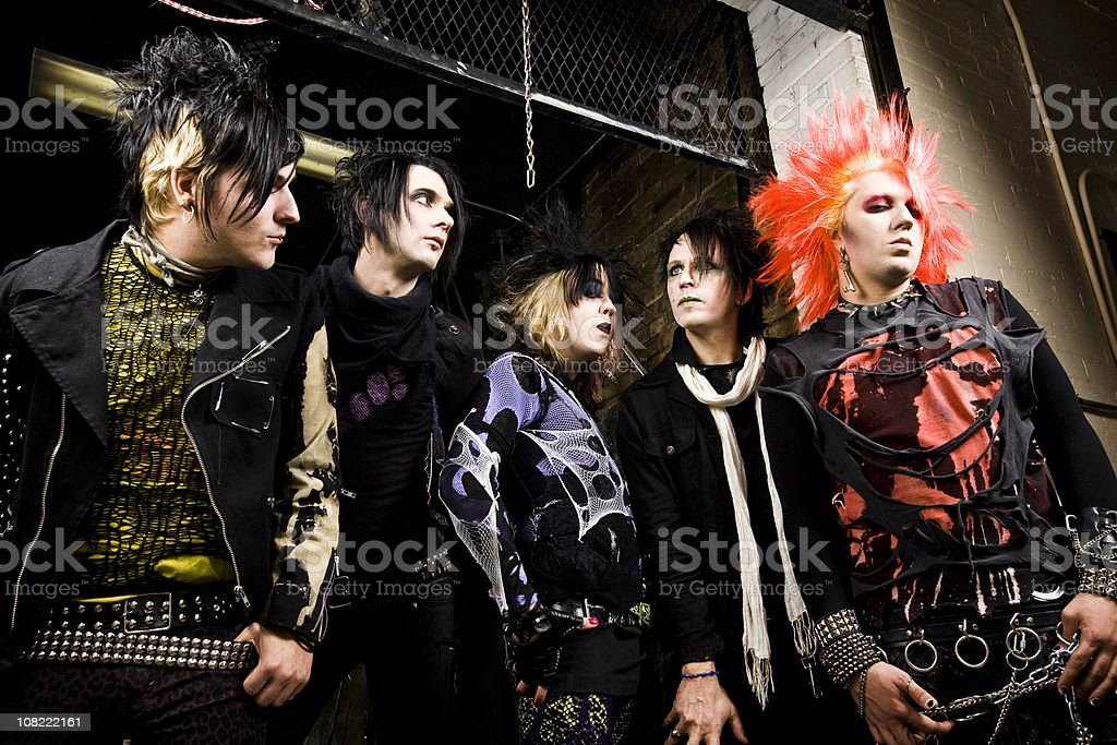 Youg Men: Punk Rockers stock photo