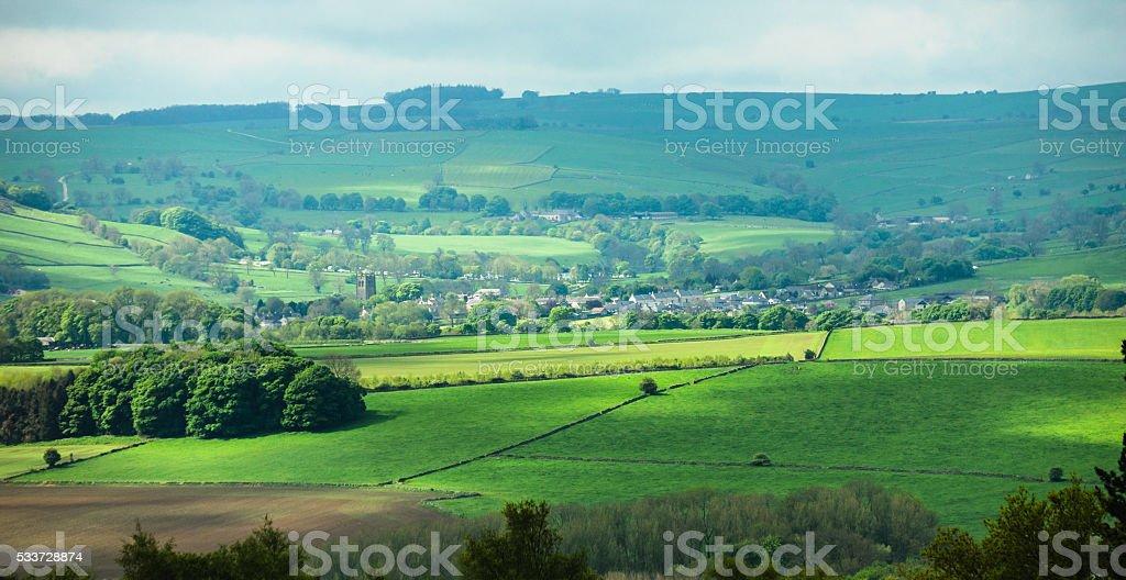Youlgrave, Derbyshire stock photo