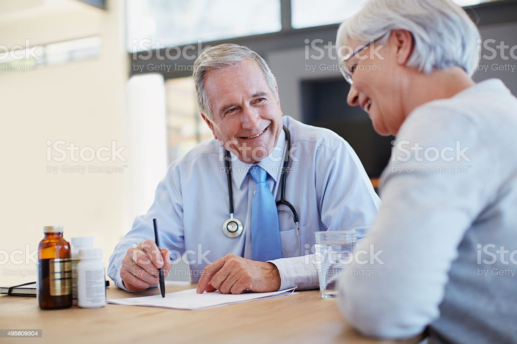 You'll feel better in no time stock photo