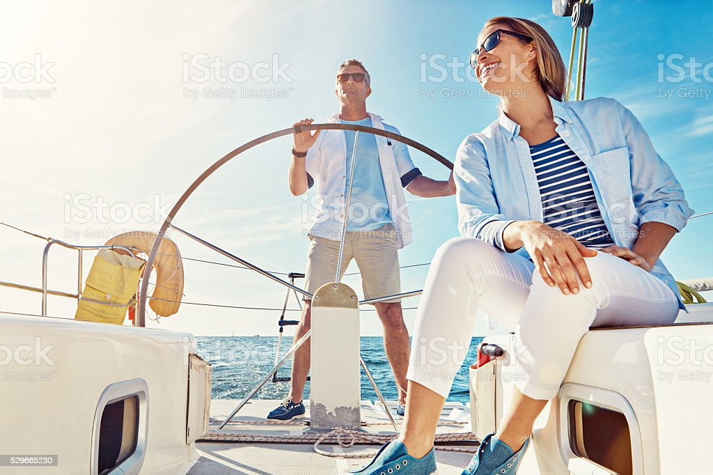 You'll never get bored on a ocean cruise stock photo