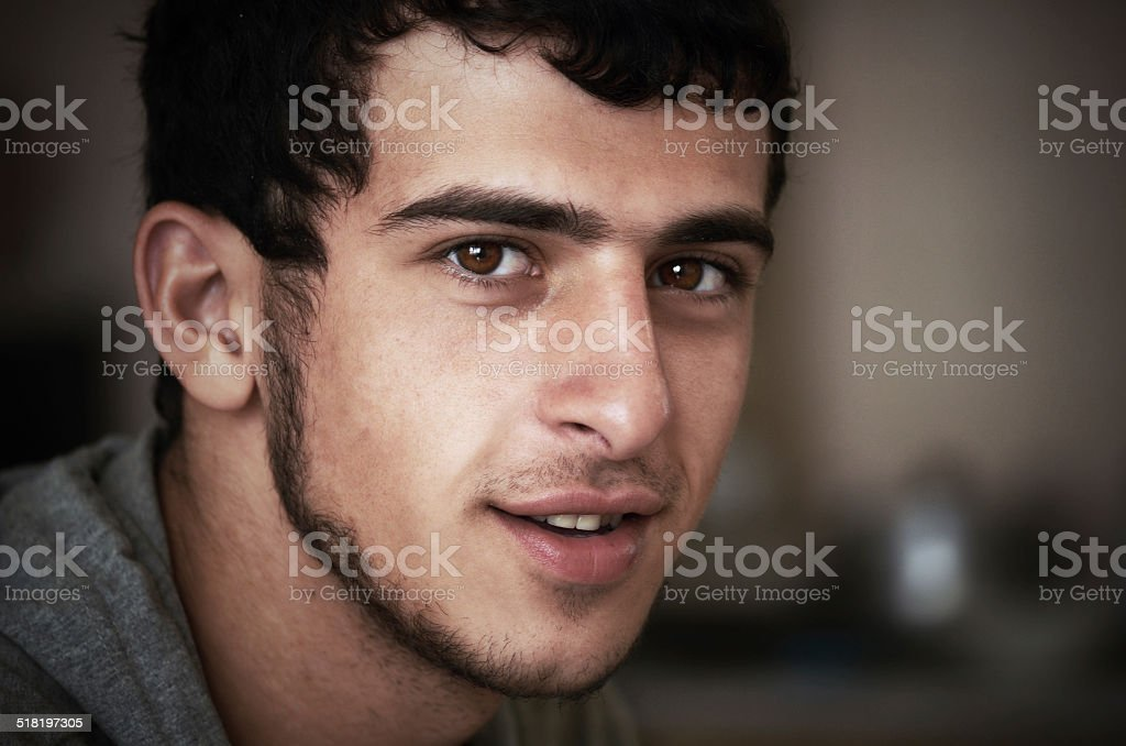 young a swarthy guy stock photo