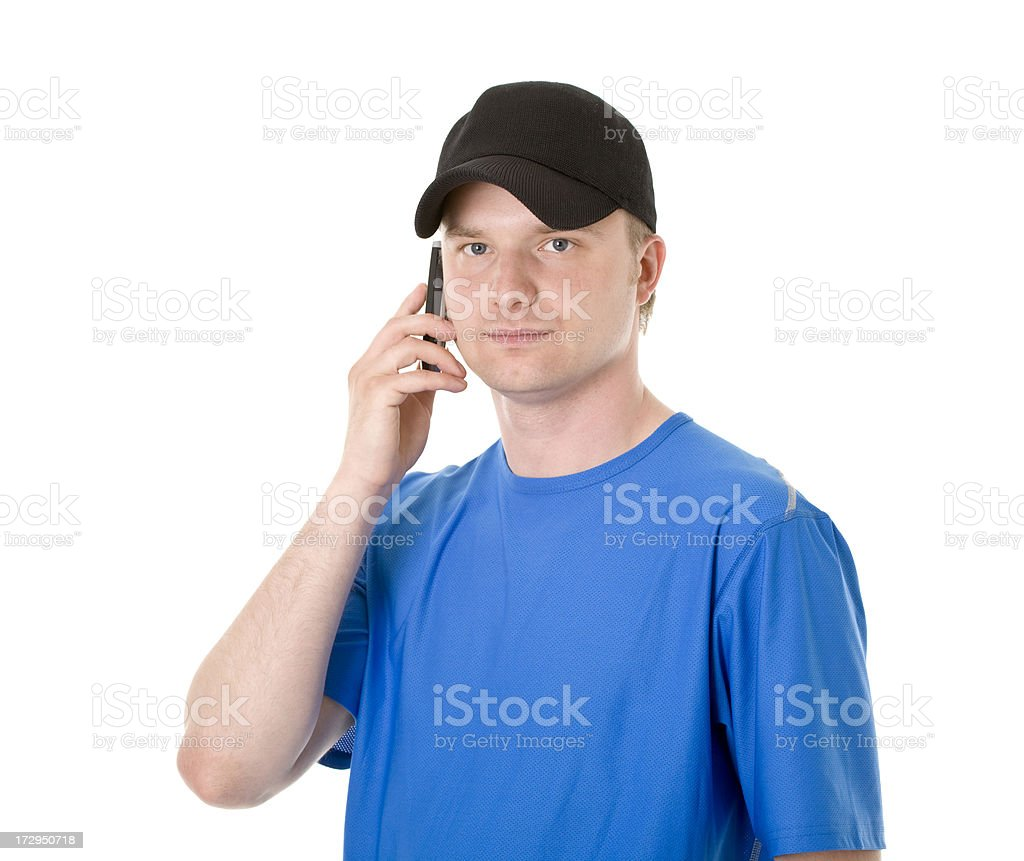 young active man calling royalty-free stock photo