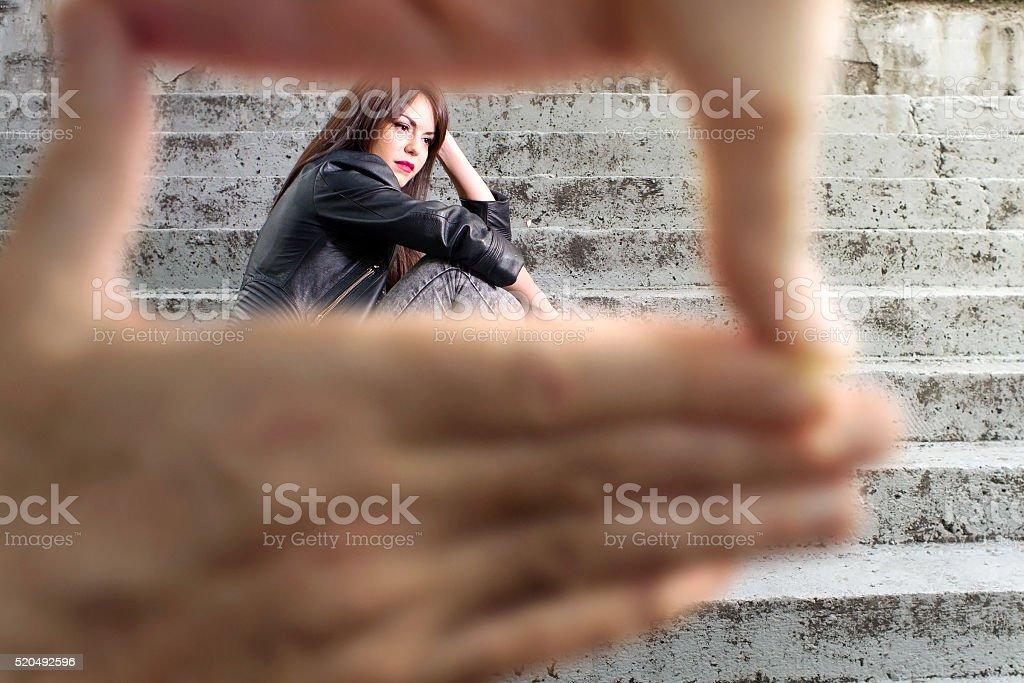 Young actress stock photo