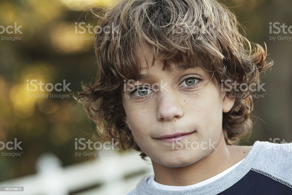 Young adolescent boy stock photo