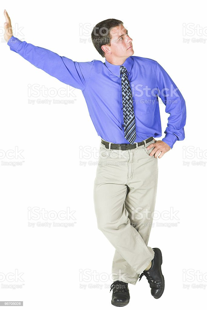 Young adult businessman standing against copy space royalty-free stock photo