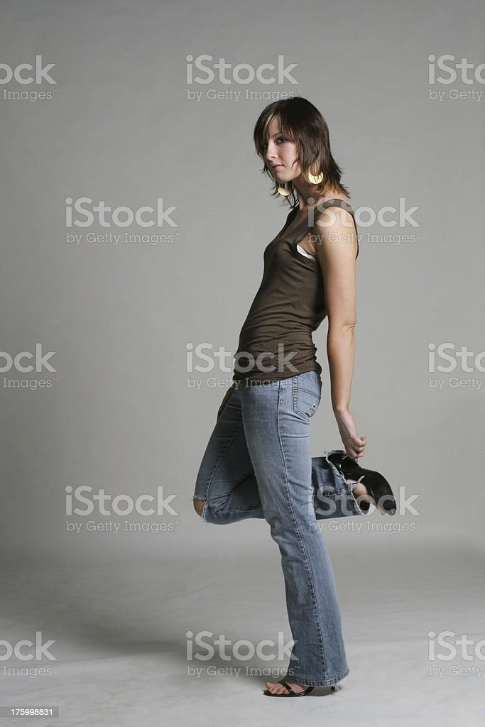 Young adult female alone royalty-free stock photo
