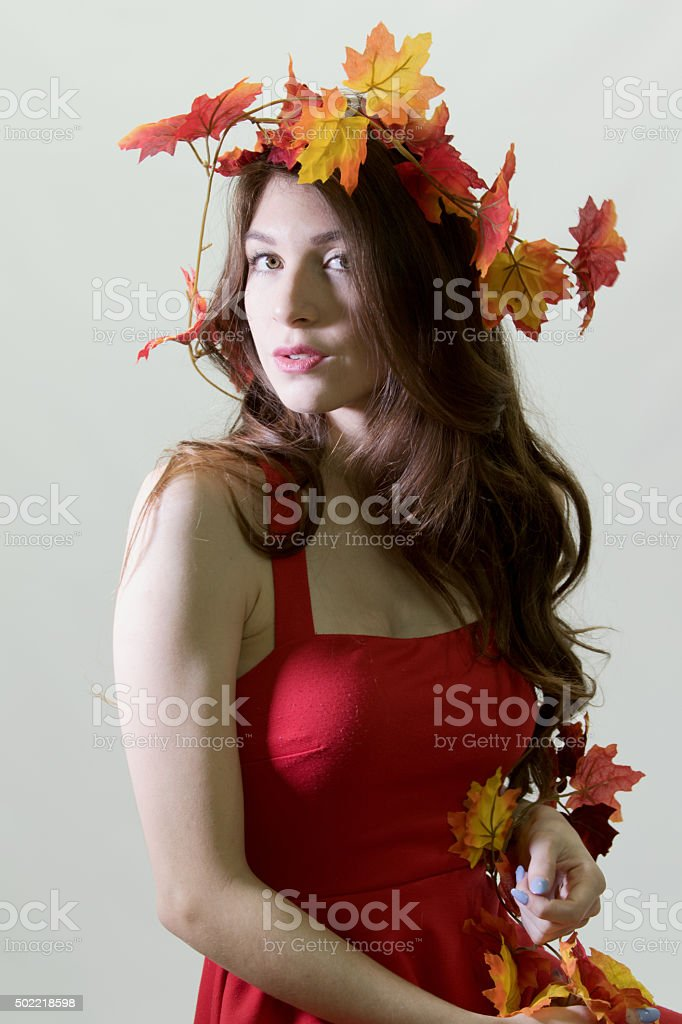 Young Adult Female At A Festival stock photo