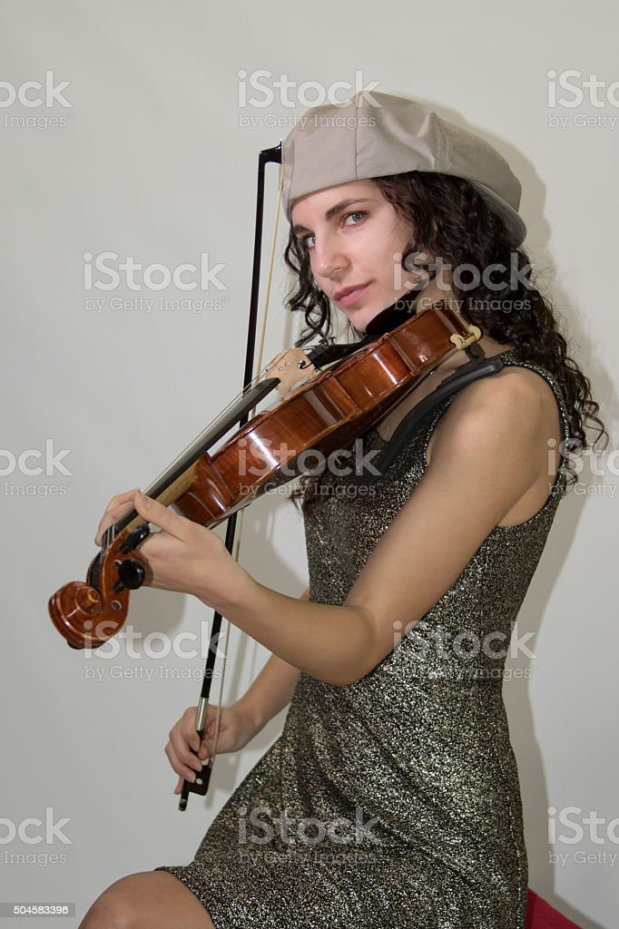 Young Adult Female Musician stock photo