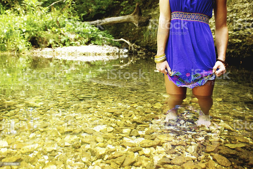 young adult female nature river portraits royalty-free stock photo