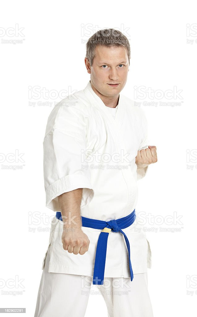 young adult fighter royalty-free stock photo