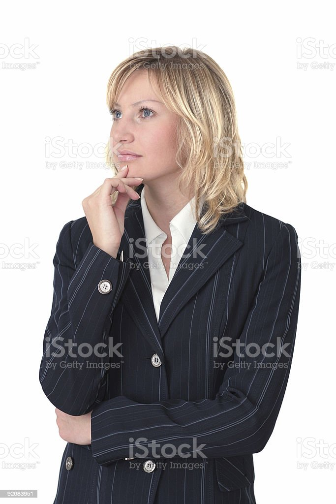 Young adult girl think royalty-free stock photo