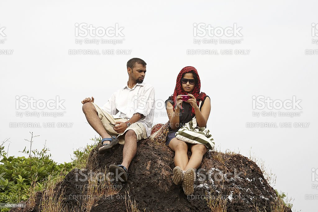 Young adult indian couple royalty-free stock photo