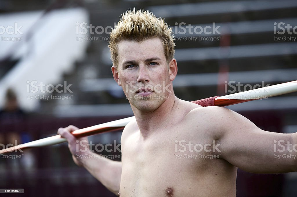 young adult male athlete portrait royalty-free stock photo