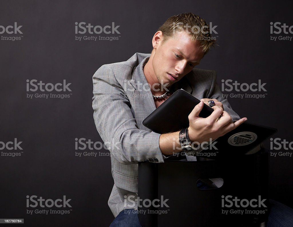 young adult male business casual stock photo