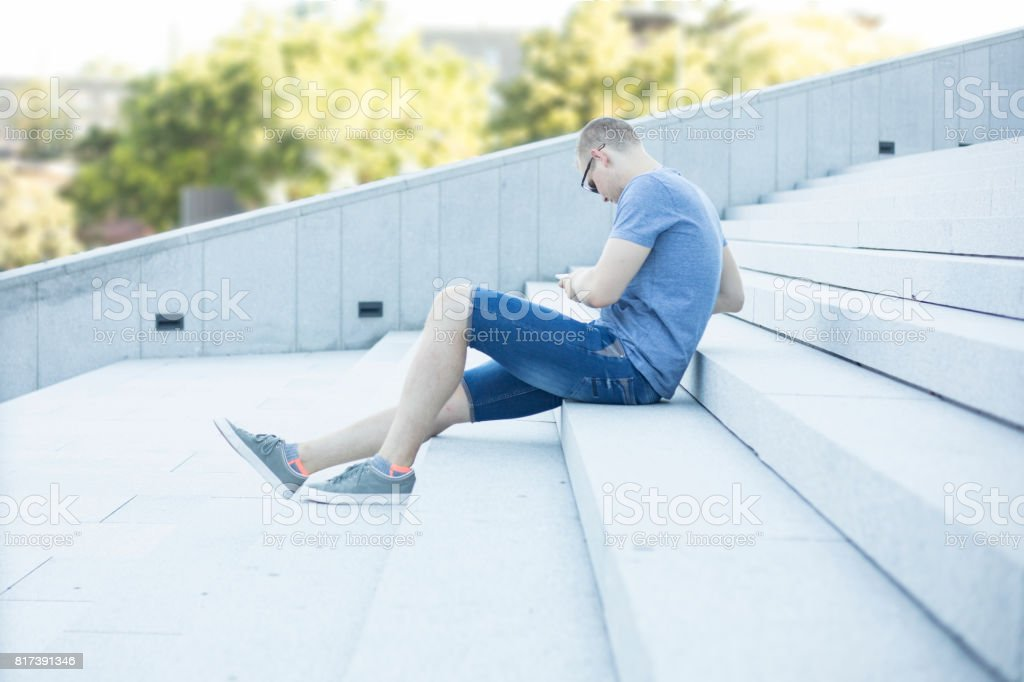 Young adult man portrait stock photo